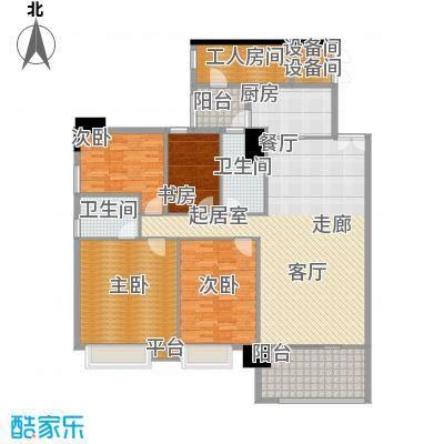 东海嘉园159.19㎡C塔4-11层2单位面积15919m户型