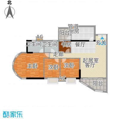 珠江太阳城广场136.31㎡裕景2座4面积13631m户型