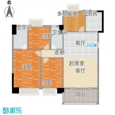 东海嘉园136.22㎡D座标准层3单位面积13622m户型