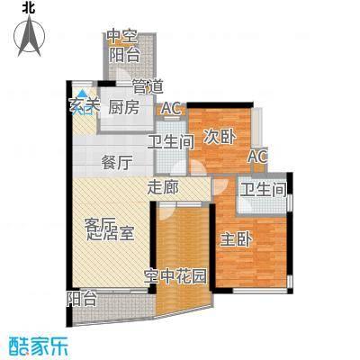 珠江太阳城广场105.00㎡户面积10500m户型