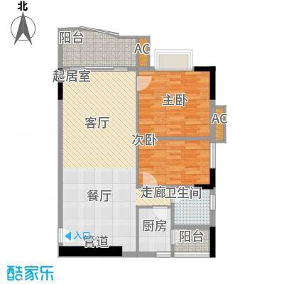 珠江太阳城广场85.35㎡裕景2座4面积8535m户型