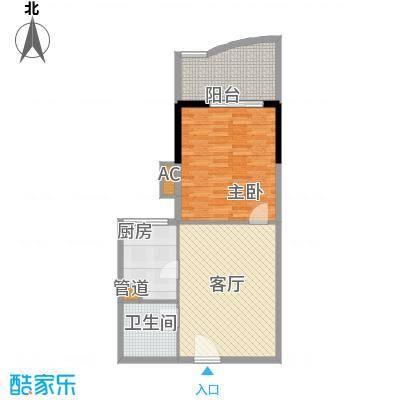 珠江太阳城广场68.00㎡户面积6800m户型