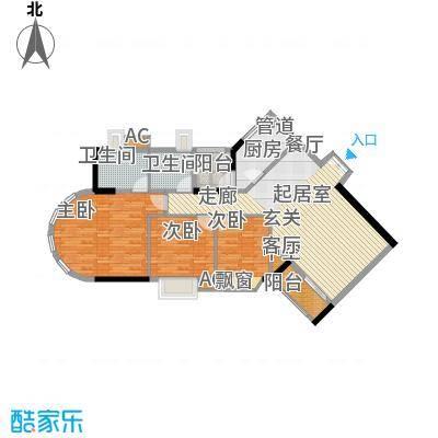 珠江太阳城广场119.76㎡户面积11976m户型