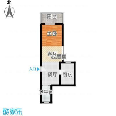 天惠嘉园49.81㎡07单元1室1面积4981m户型