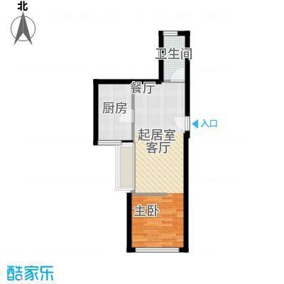 天惠嘉园41.47㎡16单元1室1面积4147m户型