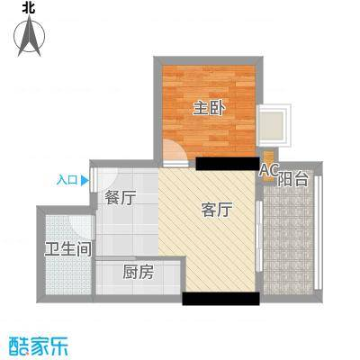 天惠嘉园45.78㎡10单元1室1面积4578m户型