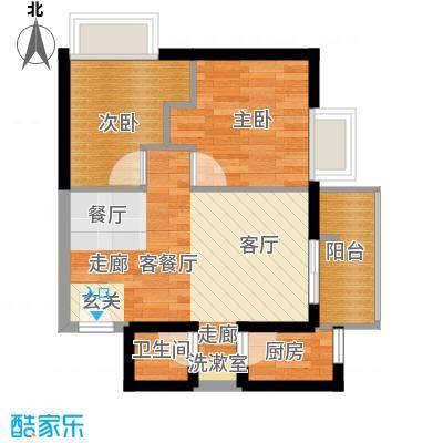 天惠嘉园59.82㎡18-24层08单元面积5982m户型