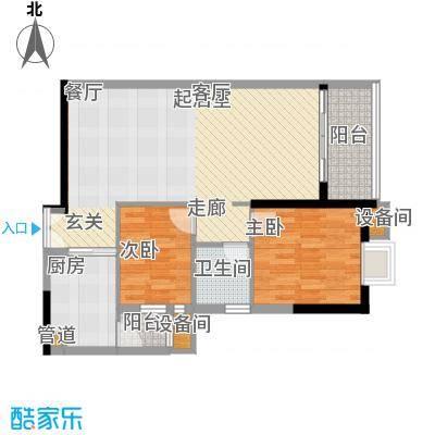 东银广场83.36㎡6-31层04、05单面积8336m户型