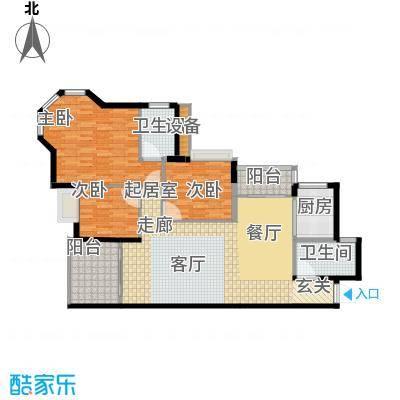 东逸华庭125.00㎡3、4座2-15层面积12500m户型