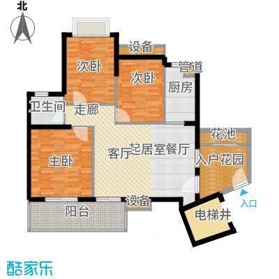 万科云山93.00㎡B1栋03单元3室面积9300m户型
