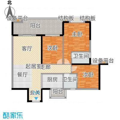 光大花园榕岸122.37㎡E10栋04面积12237m户型