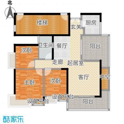 光大花园榕岸119.55㎡E1栋01面积11955m户型