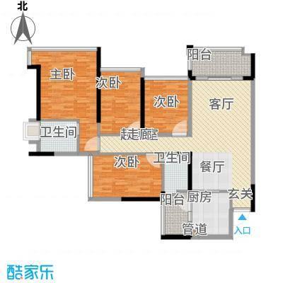 增城雅居乐御宾府133.00㎡1、2、面积13300m户型