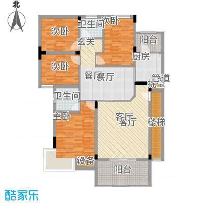 永愉花园128.00㎡4面积12800m户型