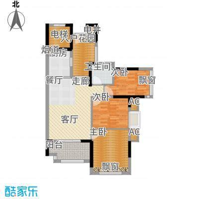 万科云山95.00㎡C5栋01单元3室面积9500m户型
