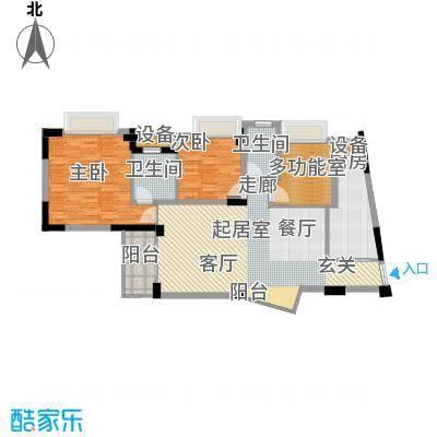 东逸华庭116.00㎡3、4座2-17层面积11600m户型