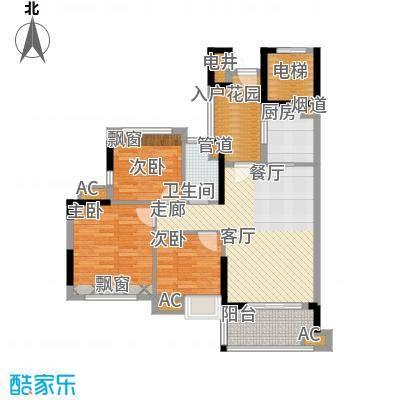 万科云山95.00㎡C5栋02单元3室面积9500m户型