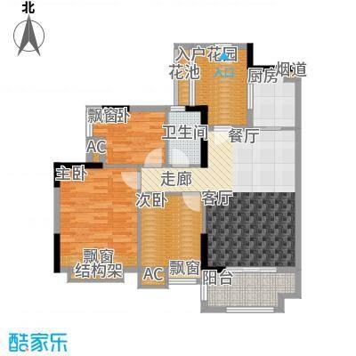 万科云山95.00㎡C1栋02单元3室面积9500m户型