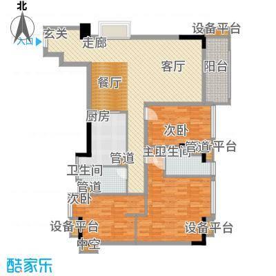 雅居乐君域公馆128.00㎡M面积12800m户型
