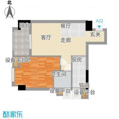 雅居乐君域公馆64.00㎡B面积6400m户型