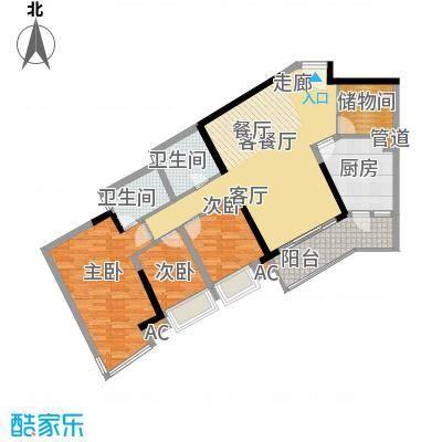 瀚林水岸106.72㎡B栋05单元4室2面积10672m户型