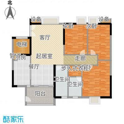 怡乐花园142.83㎡三期4―24层02户面积14283m户型