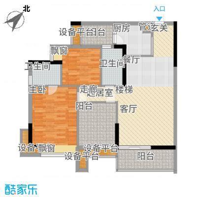 荔江美筑95.00㎡5栋18/面积9500m户型