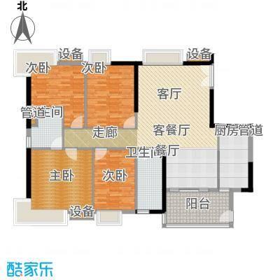 怡乐花园147.52㎡三期4―24层01单面积14752m户型