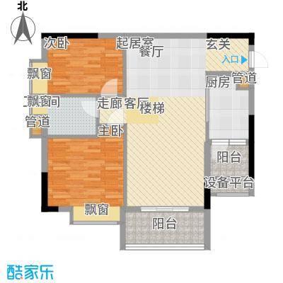 荔江美筑85.00㎡5栋18/面积8500m户型