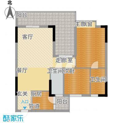 荔江美筑94.70㎡3栋05单位2面积9470m户型