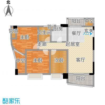 森语星园94.43㎡3面积9443m户型