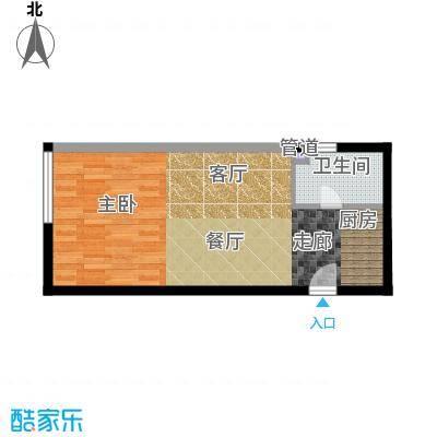 锦源国际公寓53.15㎡E1面积5315m户型
