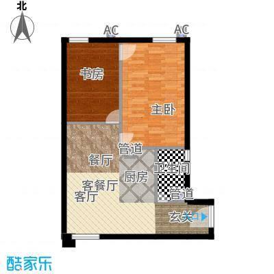 锦源国际公寓79.63㎡D1面积7963m户型