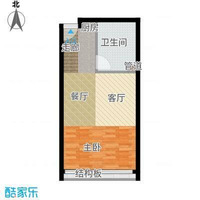 锦源国际公寓43.12㎡B1面积4312m户型