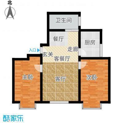 百花明珠91.54㎡1面积9154m户型