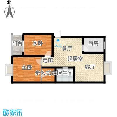 水木白杨93.19㎡1\4号楼G2面积9319m户型