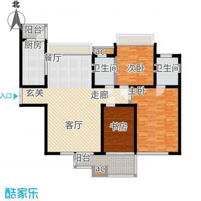 中海华庭128.38㎡面积12838m户型
