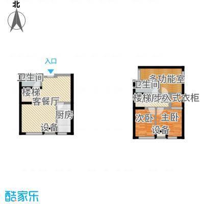 龙湖紫都城110.00㎡11号楼景阁L面积11000m户型