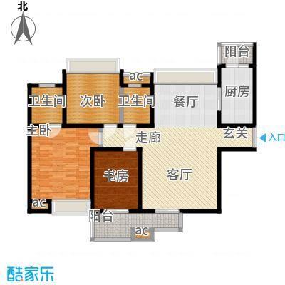 中海华庭128.76㎡面积12876m户型