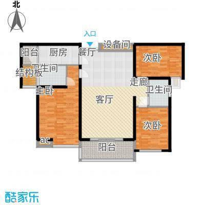 中海华庭122.00㎡面积12200m户型