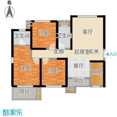 龙湖紫都城125.00㎡10号楼面积12500m户型