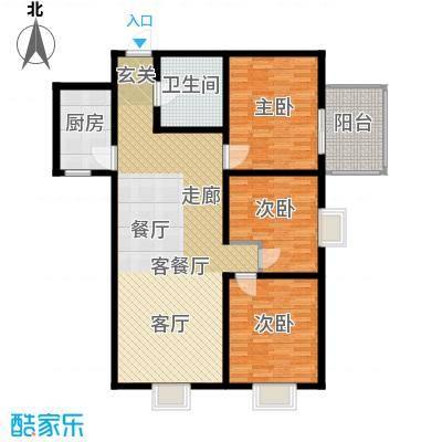 中登家园123.76㎡面积12376m户型