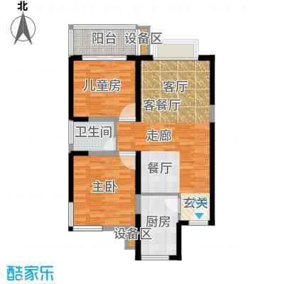 菁华名门65.00㎡面积6500m户型