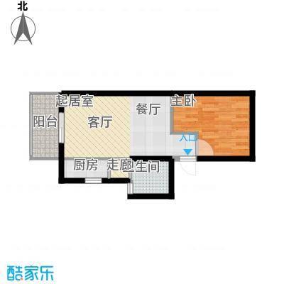 华清园小区58.00㎡面积5800m户型