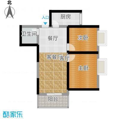 菁华名门62.00㎡面积6200m户型