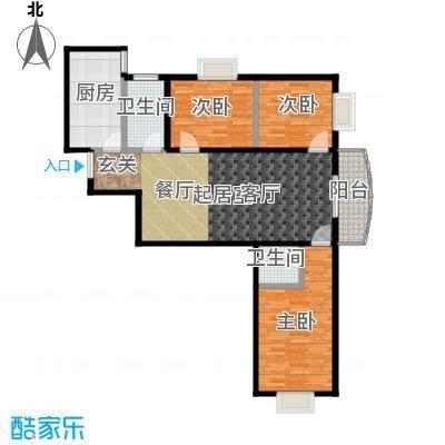 尚东国际城121.95㎡12B2面积12195m户型