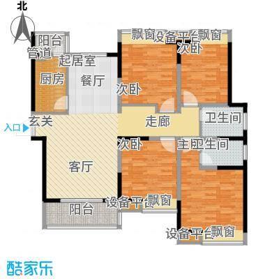 鑫泰园小区139.00㎡面积13900m户型