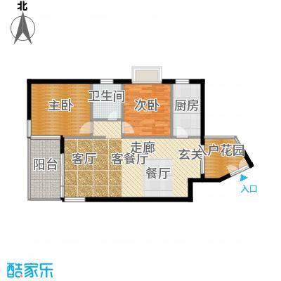 鑫龙天然居87.40㎡D1面积8740m户型