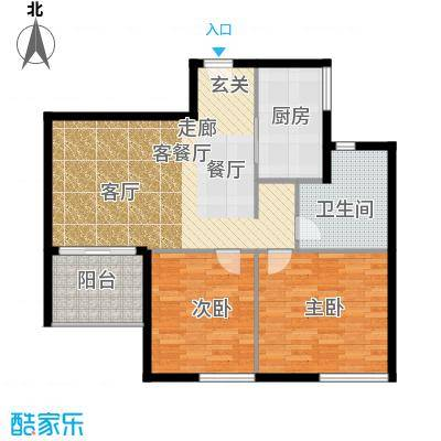 鑫龙天然居86.50㎡C2面积8650m户型