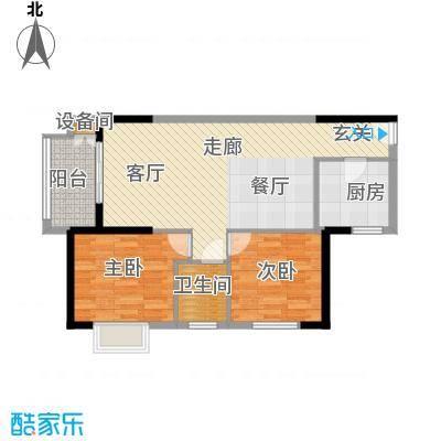 曲江澜山90.63㎡3号楼A1面积9063m户型
